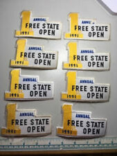 8 Vintage 1991 Annual Free State Open Trap Patches