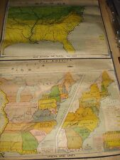 1952 DENOYER-GEPPERT CO. MAP- CIVIL WAR + SECESSION + UNION & UNITY + - 2 Sided