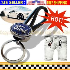 Key Chain Ring Holder Car Emblem Metal Keyring Keychain Gift for FORD Auto