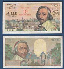 10 NF sur 1000 Francs Richelieu - 7/3/1957 G.333 - Type 1953