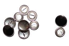 Überziehbare Knöpfe, 15mm - 10 Stück, Knopfrohlinge aus Metall