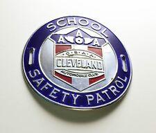 VINTAGE 50's CLEVELAND OHIO SCHOOL AAA SAFETY PATROL METAL ARM BADGE