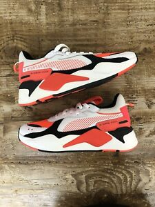 """Puma RS-X Reinvention """"Red Blast"""" Size 8 Mens White MeshLace Up Low"""