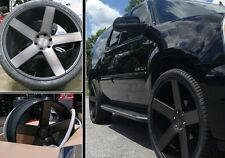 "24"" Dub Wheels Baller Black CONCAVE Rims Tires Dodge Ram 1500 Durango Dakota 22"