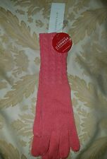 Charter Club Touch of Cashmere Womens Wool Blend Knit Coral Winter Gloves New