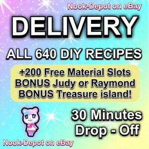 Animal Corssing Horizons FULL COMPLETE ALL DIY Recipes Cards 640 - DELIVERY ✔✔