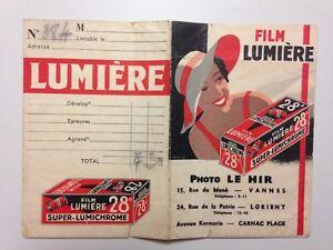 ANCIENNE POCHETTE PHOTO FILM LUMIERE // PIN UP