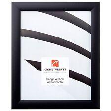 "Craig Frames 11x14 Picture Fame, 1"" Wide Modern Satin Black w/ Glass & Backing"