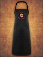 Personalised Cup Cake Baking Queen Christmas Present Gift  Apron Gift - Black