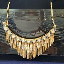 Swarovski 100 Genuine Gipsy Necklace Large Blue Rose Gold Plating
