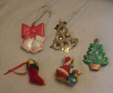 Ornaments Tree Bear Bells Trees Christmas Lot of 5 Decoration Holiday Ornament