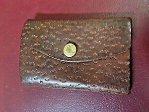 """Vintage Fastener Co """"Spring Hooks"""" 5-Hook Key Holder in 3x2"""" Tooled Leather Case"""