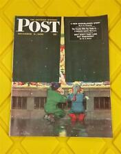 THE SATURDAY EVENING POST MAGAZINE DEC 9 1950 NICE * COBY WHITMORE STORE FRONT
