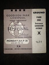 1966 World Cup Semi-Final Ticket:- West Germany v Russia