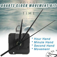 DIY Replacement 3 Hand Wall Clock Quartz Movement Mechanism Part Home Decor