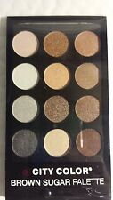 CITY COLOR BROWN SUGAR PALETTE EYE SHADOWS SOMBRA DE OJOS  12 COLORS