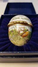 Rare Halcyon Days Enamels Bilston & Battersea Enamel Pill Box-Easter Egg 1986