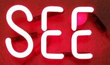 """GENESEE BEER Neon Sign Part -- """"SEE"""""""