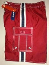 OLD NAVY Swim Trunks Board Shorts Red, White and Blue Size S Waist 22""
