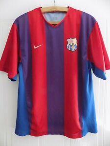 FC Barcelona Vintage Football Shirt Camiseta Nike Home Top Retro Mens Size