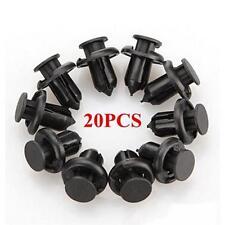 20pcs Car Auto Plastic Push Type Rivet Retainer Fastener Bumper Pin Clips JJ