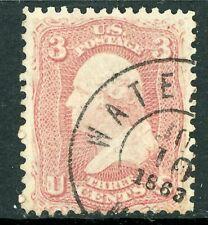 USA 1861 Washington 3¢ Pink Scott # 64 VFU I290 ⭐⭐⭐⭐⭐⭐
