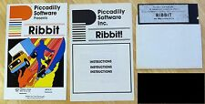 Ribbit by Piccadilly Software with 5.25 disk for Apple II+,IIe,IIc,IIgs 1982