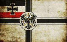 Reichskriegsflagge Bügelbild Markenqualität Waschbar bis 95°C  H7cmxB10cm