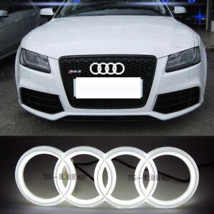 28.8X9.9CM Illuminated Car Emblem Led Grille Logo Lights For Audi Q3 Q5 Q7 A6 A7