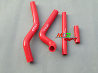For Suzuki RM125 2001-2008 02 03 04 05 06 07 silicone radiator hose red