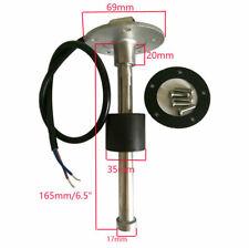 "Fuel level sender,0-90 ohm,165MM/6-1/2"",sending unit, Universal type,Stainless"