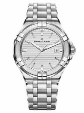 Maurice Lacroix Aikon Gents Quartz Watch Silver 42mm Day Steel Bracelet