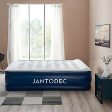 JANTODEC Camping Air Mattress with Electric Pump Inflatable Airbed Blow Queen