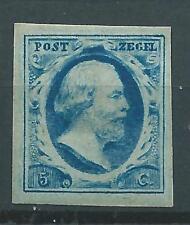 1852TG Nederland Koning Willem111 NR.1. postfris zeer brede randen zie foto's..
