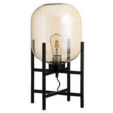 Vintage Industrial Glass Table Lamp 50% sale   Domed Glass Table lamp