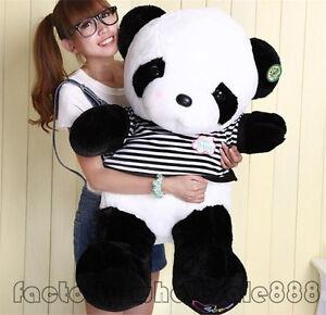 "39"" Big Cute Doll Toys Stuffed Animals Panda bears plush Pillow Bolster gift"