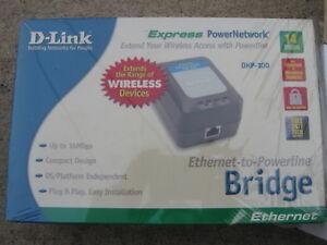 D-Link DHP-100 BDHP100 Ethernet to Powerline Bridge Adapter