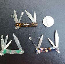 Lot Of 3 Tin Toy Pocket Knives 1930's Japan And Czechoslavakia Cracker Jack