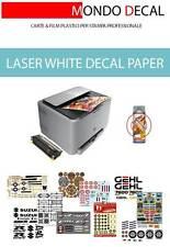 PAPEL para CALCAS al AGUA sin cover-coating, impresora LASER, 1 hoja A4 blanca