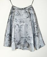 Ted Baker Stunning Skirt Silver Grey Orchids Full Circle Size 1 BNWOT