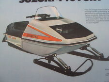 1975 Vintage SUZUKI FURY Snowmobile Brochure Arctic Cat