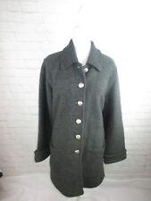 Bernardo Essentials Wool Coat women's size Medium Gray Longer Length