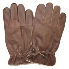 mens winter fashion driving chauffer crunch dressing gloves with lining 9087