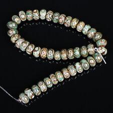 DZI BEADS Strang ACHAT 3 Augen Tibet Rondell Halbedelstein Perlen - p00019x8