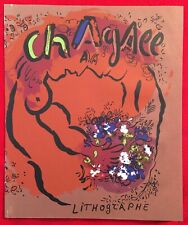 Marc Chagall, Lithographe Front Cover Original Lithograph,1960 Mourlot