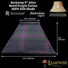 Interiors 1900 rochamp Alice 9in Baird tartan violet carré de soie abat-jour