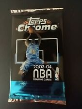 🔥2003-2004 TOPPS CHROME Basketball Pack (POSSIBLE LEBRON REFRACTOR #111 RC) 🔥