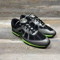 Nike Hyperfuse Black Green Golf Shoes 483841-002 Men's Size 11.5 Lunar Ascend