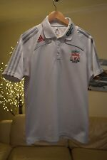 Mens Liverpool White Polo - Training Top Shirt Sz. Large - Very Good Cond.