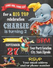 Dumbo Baby Shower or Birthday Party Invitations Invites Personalized Custom